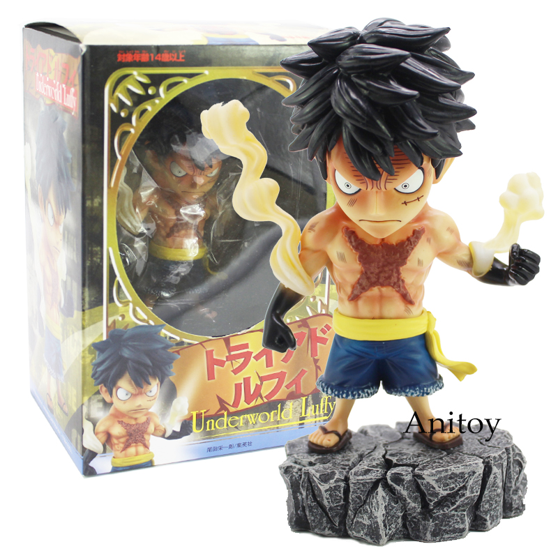 Anime One Piece Underworld Luffy / Zoro PVC Action Figure Collectible Model Toy 15cm one piece action figure roronoa zoro led light figuarts zero model toy 200mm pvc toy one piece anime zoro figurine diorama