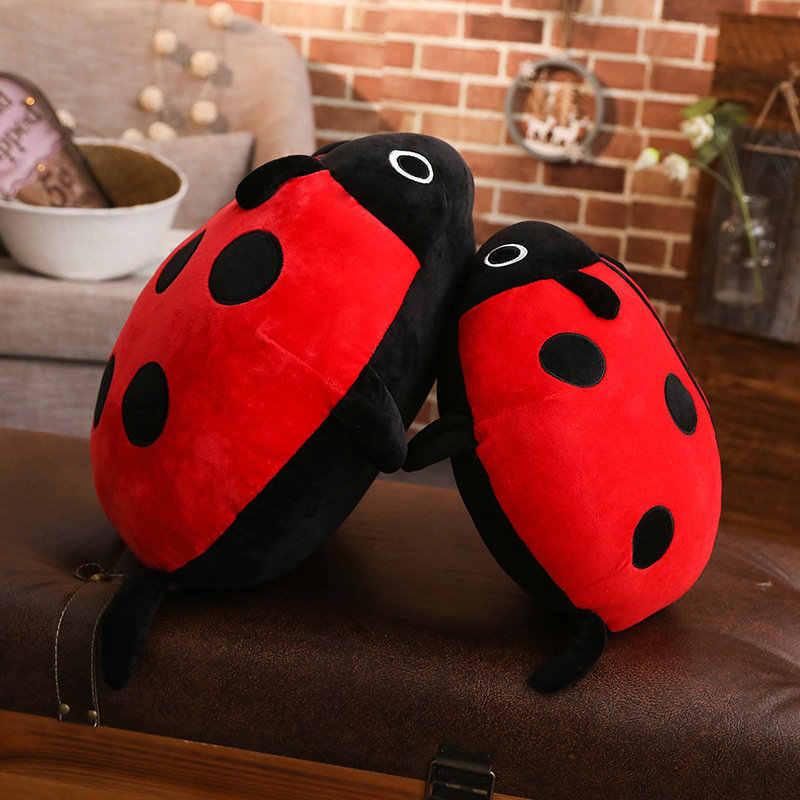 40-80 cm Sevimli Simülasyon Beetle peluş oyuncak Çocuk peluş doldurulmuş oyuncak uğur böceği bebek çocuk peluş oyuncak Noel doğum günü hediyesi
