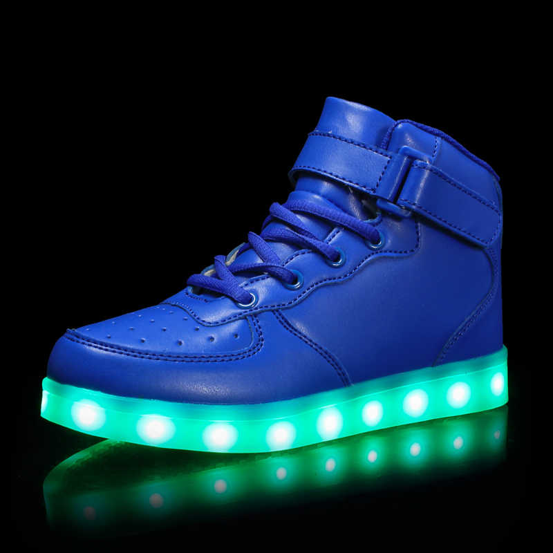 Desirca 2018 New Warm Like Home USB Charger Glowing Sneakers Led Children Lighting Shoes Boys Girls Illuminated Luminous Sneaker,Photo Color,8.5