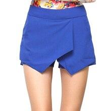 Verano Mujer Arruga Drapeado Shorts S-XL Señora de La Manera Ocasional Pantalones Cortos de Color Sólido Corto Feminino pantalones cortos mujer