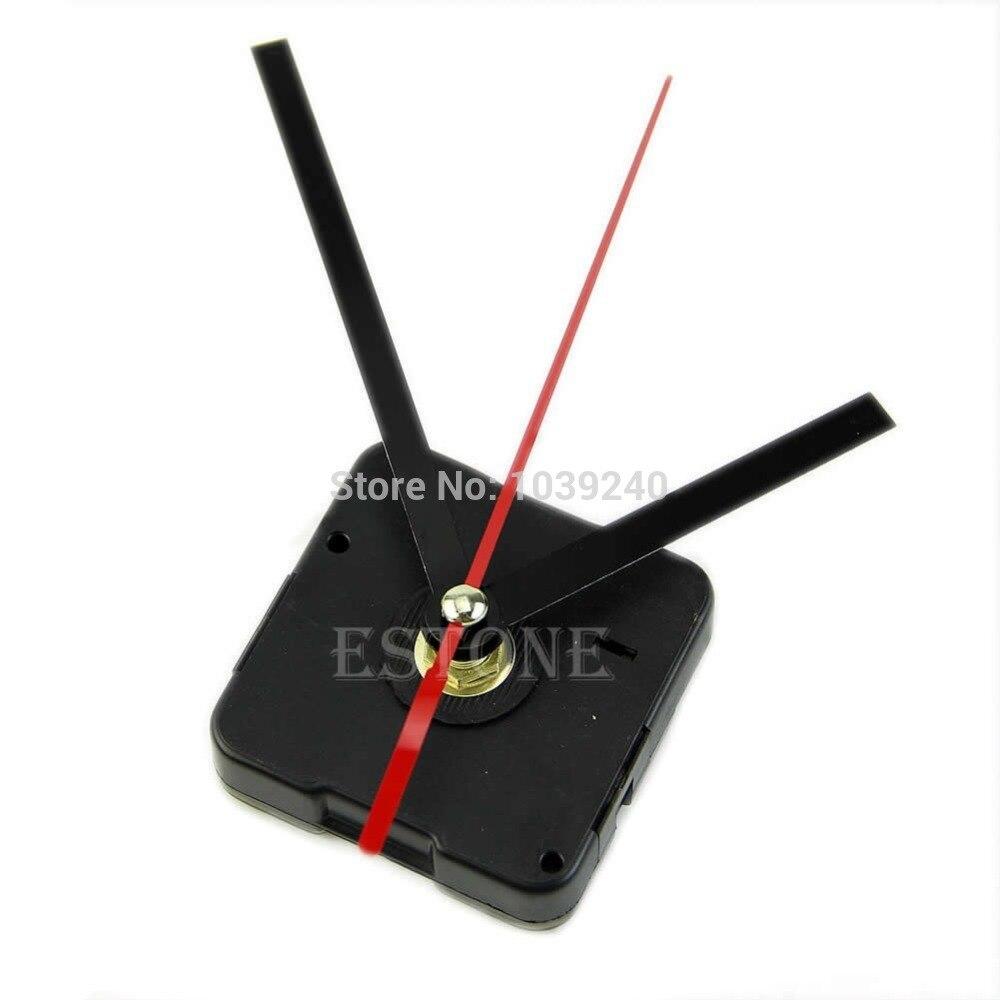 E74 Quartz horloge mouvement mécanisme bricolage pièces de réparation noir + mains 05