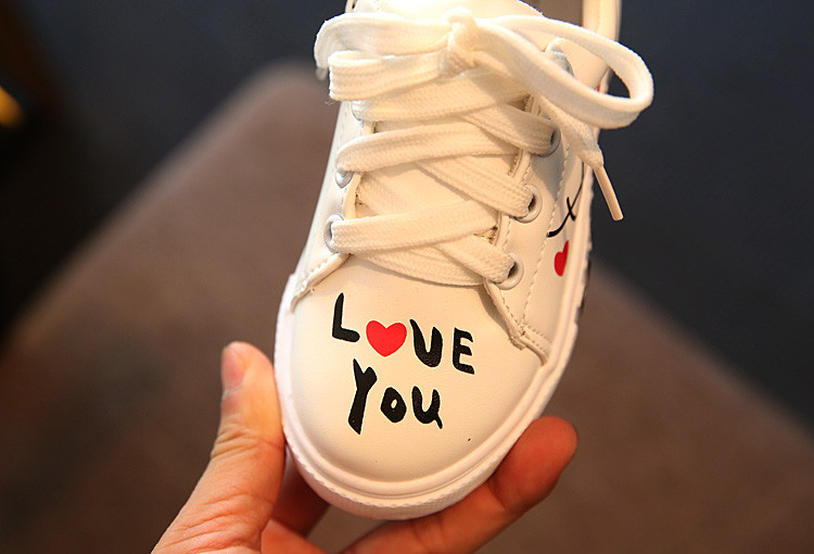 COZULMA Children Sneakers Girls Boys Casual Shoes Sport Shoes Baby Boys Shoes Kids Letters Lace-Up Running Shoes Sneakers 13