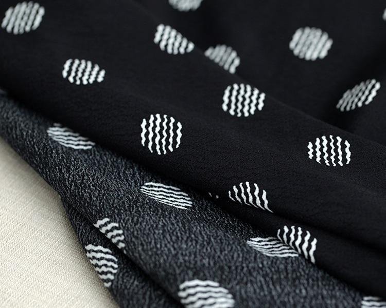 US $44 2 |Summer wave point fashion fabric custom fabric printing drape  rayon fabric wholesale clothing cloth rayon material dress fabric-in Fabric