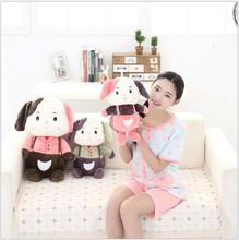 Hot Sell new Product 40cm50cmDIY Children plush toy Dogg doll dolls overalls Children birthday gifts Free Delivery