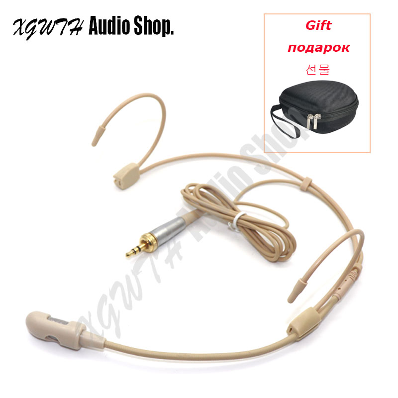 Microphones Live Equipment Collection Here Beige Cardioid Double Ear Hook Headset Microphone For Shure Wireless Interview Speech Sing Record Mini Xlr 4pin Ta4f Connector