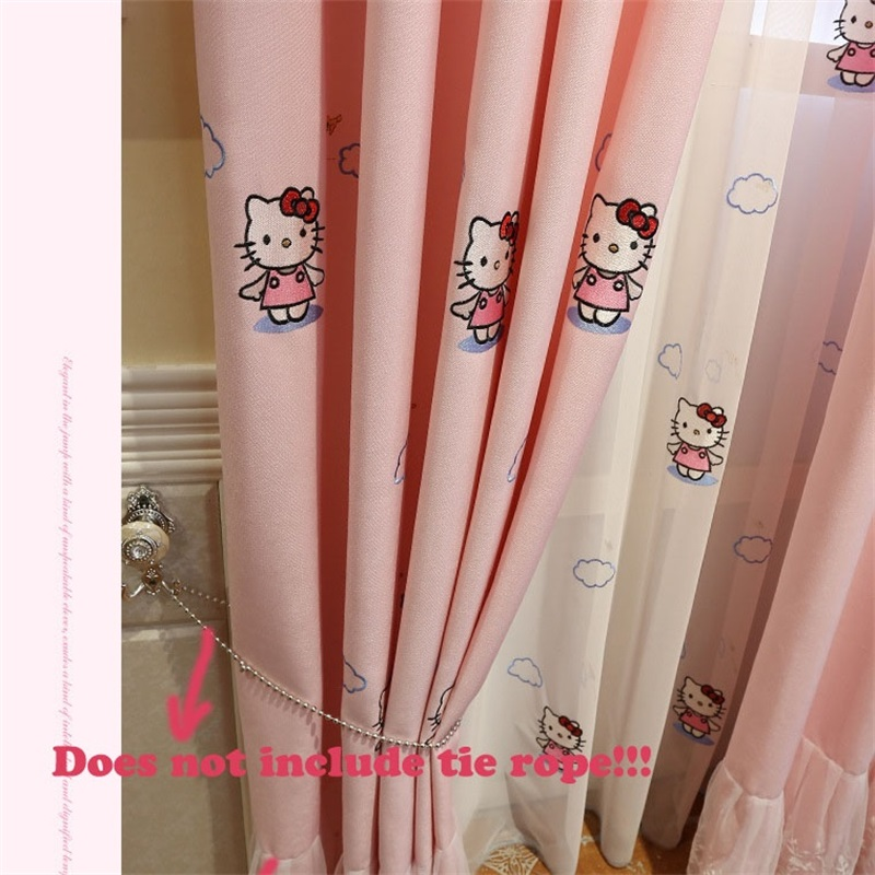 Us 89 41 Offpink Cartoon Cat Kids Curtains For Living Room Children Blackout Customized Finished Curtains For Baby Girls Bedroom Wt1524 In