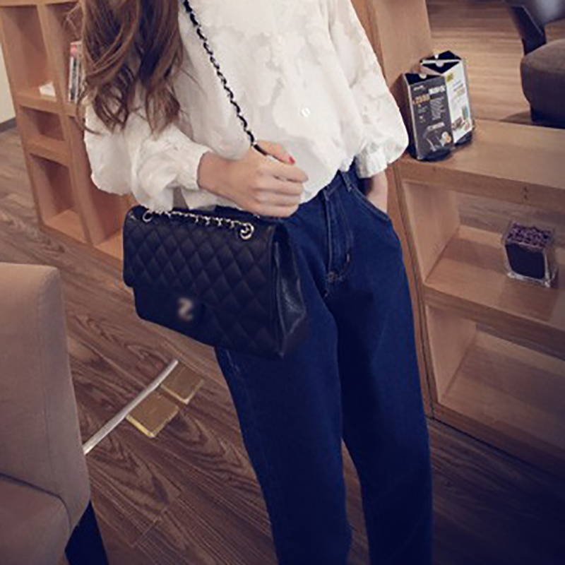 Fashion Women 39 s Casual Loose High Waiast Blue Baggy Harem Denim Jeans Cropped Pants Autumn Jeans Boyfriend Trousers Female in Jeans from Women 39 s Clothing