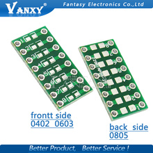 10pcs 0805 0603 0402 to DIP Transfer Board DIP Pin Board Pitch Adapter keysets
