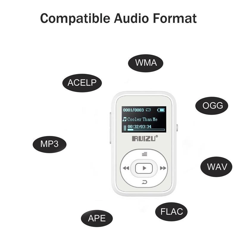 სპორტული კლიპი Bluetooth Mp3 Player 8GB - პორტატული აუდიო და ვიდეო - ფოტო 5