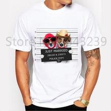 Neue Ankunft männer Bad hund verheiratet Design T-shirt Funny Dog Gefangenen T-shirt Men Casual Kurzarm T-shirt Homme Camiseta