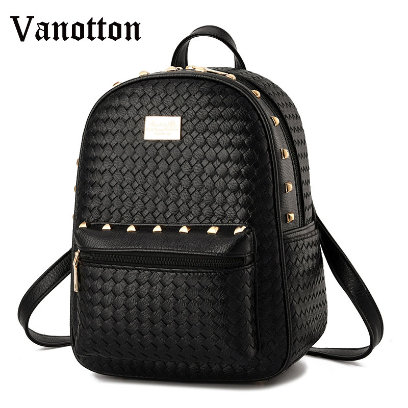 2017 Fashion Women Backpack Pu Leather School Bags for Teenagers Girls Big Capasity Leisure Shoulder Bag Students Travel Bags womens fashion cute girls sequins backpack paillette leisure school bookbags leather backpack ladies school bags for teenagers