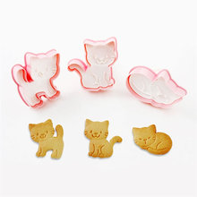 Upspirit 3PCS Cat Kitten Cookie Molds Fondant Cutter Biscuit