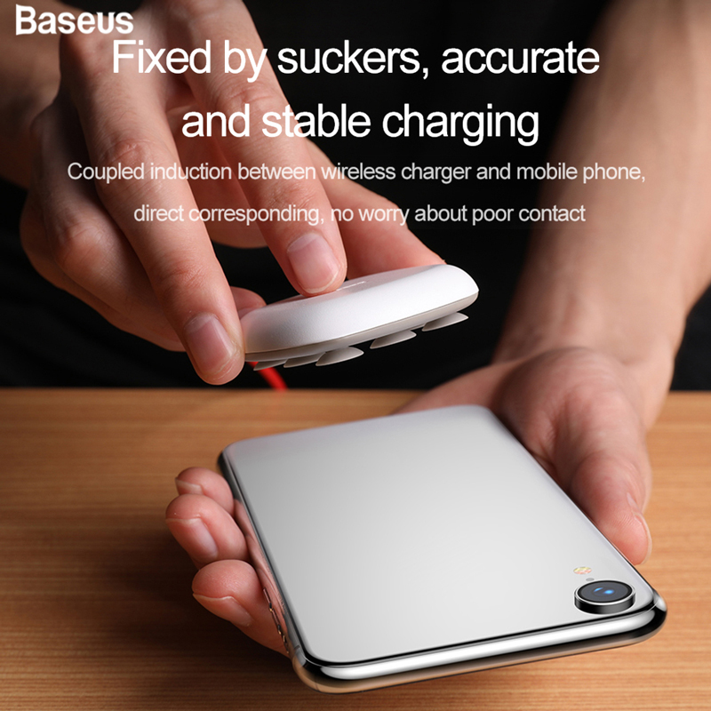 Baseus Wireless Charger Spider Suction WXXP Mini Suction Cup Wireless Fast Charging Pad for iPhone X Series Samsung S8 S9Baseus Wireless Charger Spider Suction WXXP Mini Suction Cup Wireless Fast Charging Pad for iPhone X Series Samsung S8 S9