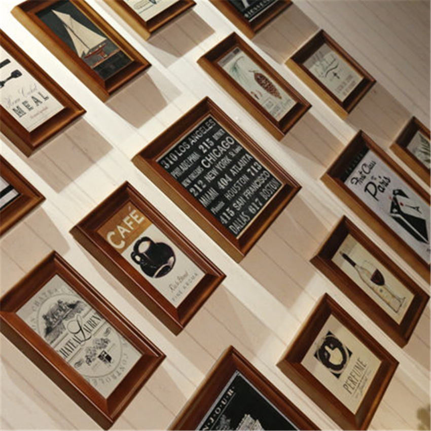 15 Teile/los Bilderrahmen Wand Amerikanischen Stil Holz Bilderrahmen ...