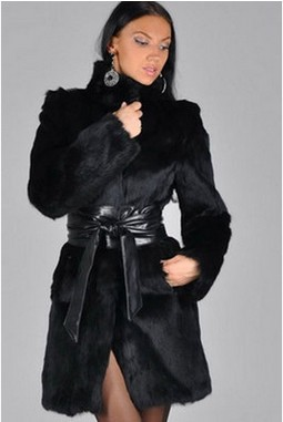 women long faux fur coat Haining fur mink hair long coat winter women
