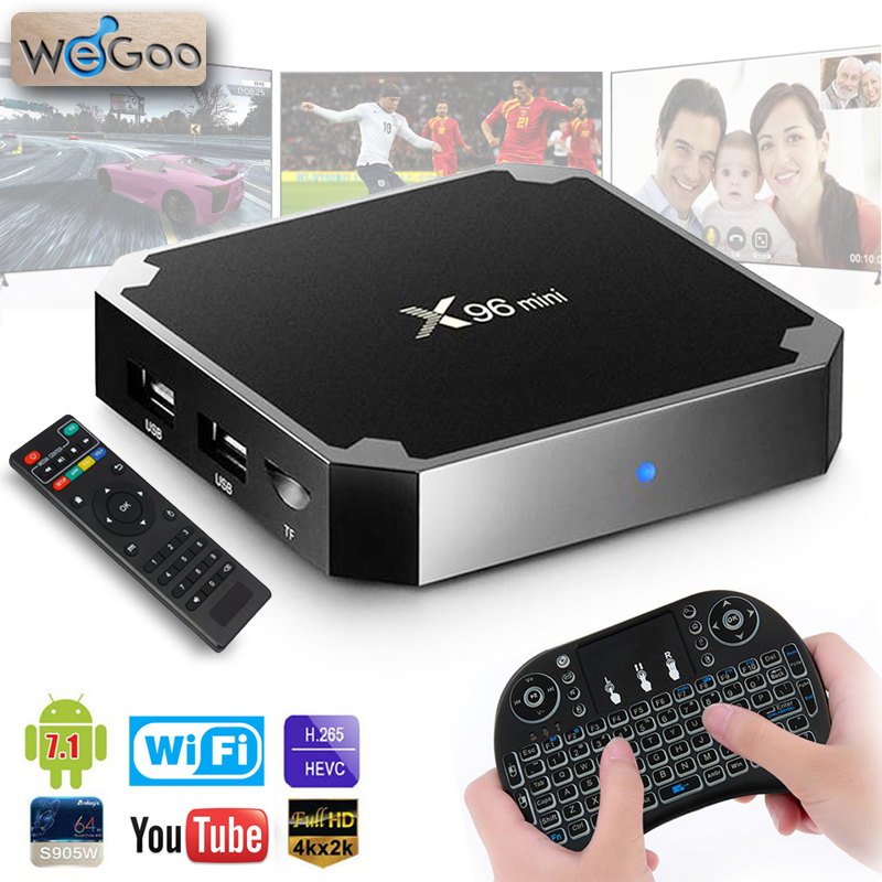 2018 WEGOO X96 Mini TV BOX Android 7.1 S905W 2GB 16GB WiFi IPTV Smart TV BOX X96mini 4K HD Media Player Tvbox Set top Box x 96 2018 wegoo x96 mini tv box android 7 1 s905w 2gb 16gb wifi iptv smart tv box x96mini 4k hd media player tvbox set top box x 96