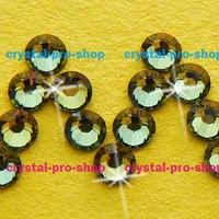 GENUINE Swarovski Elements (ss6, 2mm) (720 pezzi) Tabac (TAB) 6ss Iron on Flatback Perline di Cristallo Pietre Strass Hotfix