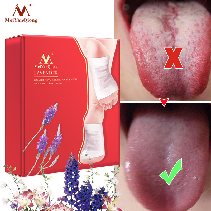 MeiYanQiong Brand Nourishing Repair Foot Patch Lavender Natural 10 Pieces/lot Improve Sleep Quality Slimming Patch Loss Weight