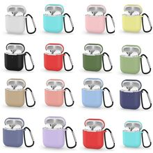 Mini Cute Cases for Airpods 2nd Generation Protective Earphone Cover Case Apple airpods2 with Carabiner