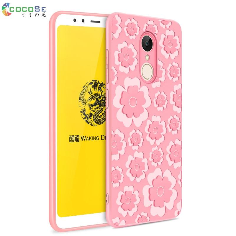 3D carving floral phone case for xiaomi redmi 5 cover COCOSE TPU +Silicon case for xiaomi redmi 5 plus xiaomi redmi 5 5plus case