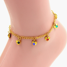 Stainless steel charm bracelet, shiny clear crystal for women and man,gold vacuum color bracelet anklet