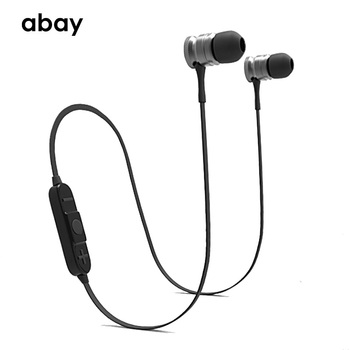 Bluetooth Wireless Earphone super heavy bass headphones with Mic Headset Stereo HD sound Earbuds sport earphone for mobile phone