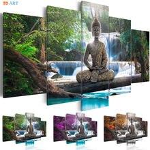 Статуя Будды художественные принты Природный постер холст искусство