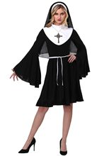 288409001 Adult Women Classic Deluxe Nun Costume Halloween Habit Fancy Dress Sister  Hen Party Outfit(China