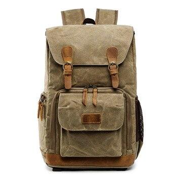 Batik Canvas Waterproof Photography Bag Outdoor Wear-resistant Large Camera Photo Backpack Men for Nikon/Canon/ Sony/Fujifilm Camera/Video Bags