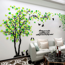 New Arrival Couple Tree 3d three-dimensional Acrylic wall stickers Living room Bedroom TV Sofa Mural Wall Art Sticker Love