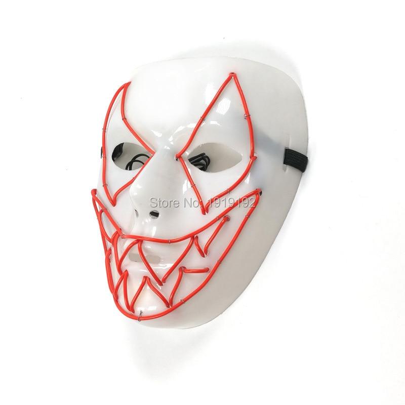 Casas assombradas EL iluminação máscara de tubarão de plástico - Para feriados e festas