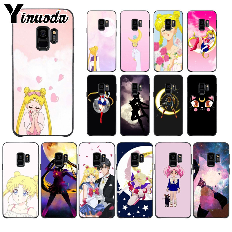 Buy Yinuoda Cute girl Sailor Moon Anime TPU Soft Silicone Phone Case for Samsung S9 S9 plus S5 S6 S6edge S6plus S7 S7edge S8 S8plus for only 1.09 USD