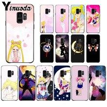Yinuoda Cute girl Sailor Moon Anime TPU Soft Silicone Phone Case for Samsung S9 plus S5 S6 S6edge S6plus S7 S7edge S8 S8plus