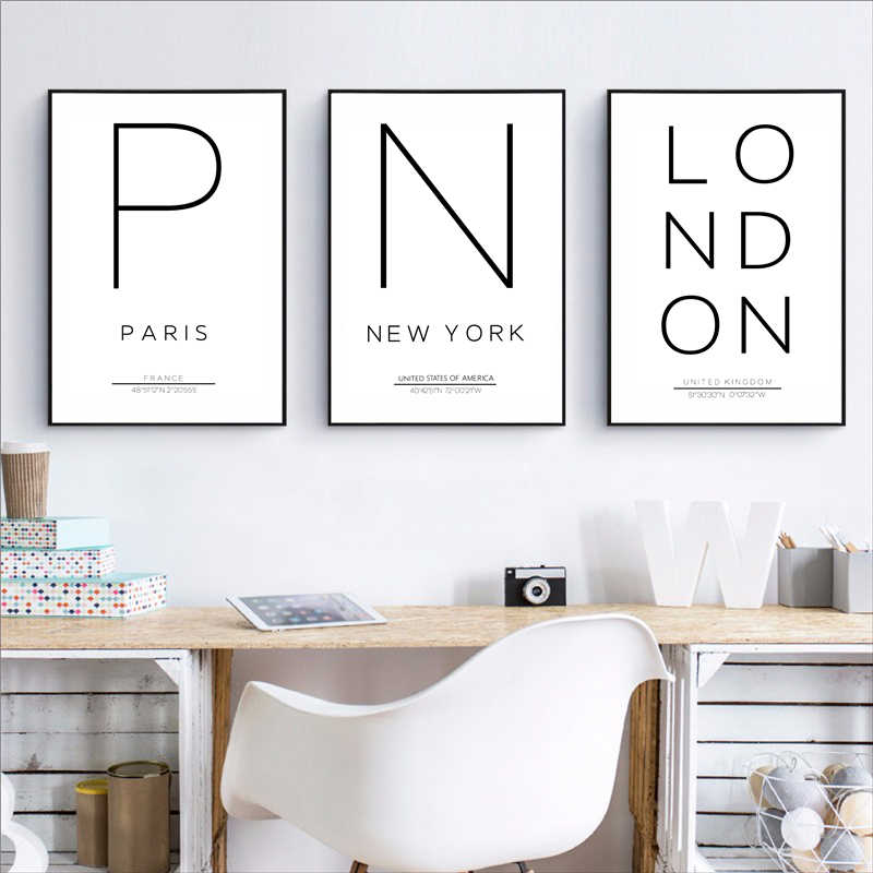 New York Paris London Minimalist City Painting Wall Art Canvas Posters Scandinavian Prints Decorative Picture Modern Home Decor