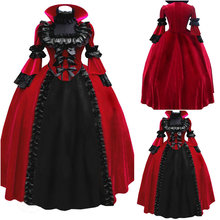 History! Customer-made Red Renaissance Dress Vintage Costumes Victorian Dress Steampunk dress Gothic Halloween Dress C-698