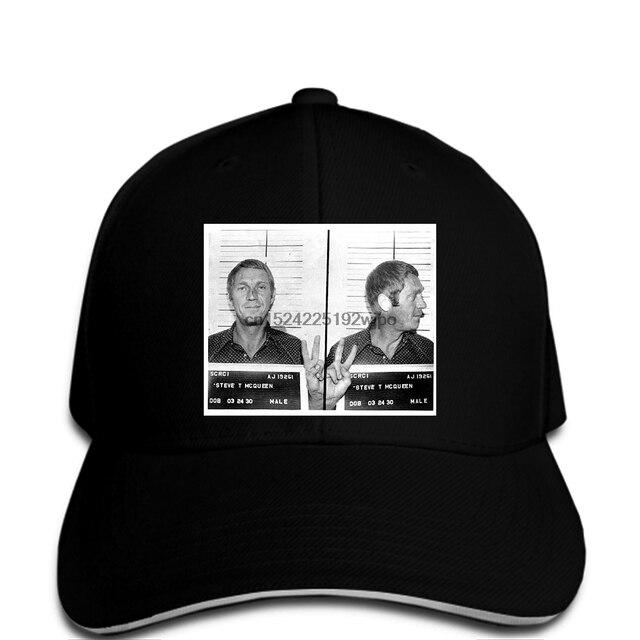 Men Baseball cap Steve McQueen Mug Shot funny cap novelty cap women ... 218593bd8b6