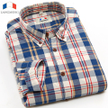 Langmeng 2016 spring autumn mens 100% cotton brand long sleeve plaid casual shirts vintage dress shirt men chemise homme