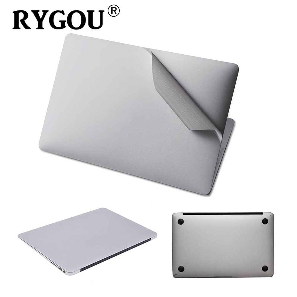 все цены на 2016 NEW Silver Skins Full Body Sticker For MacBook Air Pro Retina 11 12 13 15 Guard Case Bottom Cover Surface Protective Film онлайн