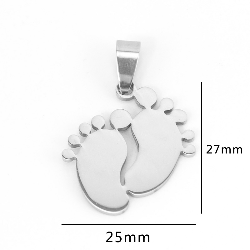 Jewellery & Watches Baby Foot Toes Pendant Necklace 100% Stainless Steel Collier Pieds Footprint Charm Necklace Birth Gift For Children Wholesale Always Buy Good