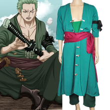 Anime Cosplay ONE PIECE  Roronoa Zoro Cosplay Costumes (Two years later) Clothing    European Size  Free Shipping цена в Москве и Питере