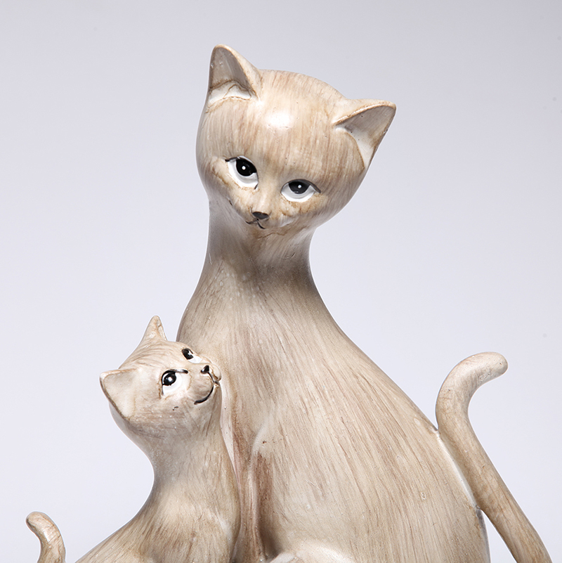 สไตล์ 2 น่ารักน่ารัก Cat สร้างสรรค์บุคลิกภาพแมวเรซิ่นเครื่องประดับ Figurine รูปปั้นประดิษฐ์ที่ดีที่สุดของขวัญคริสต์มาสวันแม่-ใน รูปแกะสลักและรูปจำลอง จาก บ้านและสวน บน   2