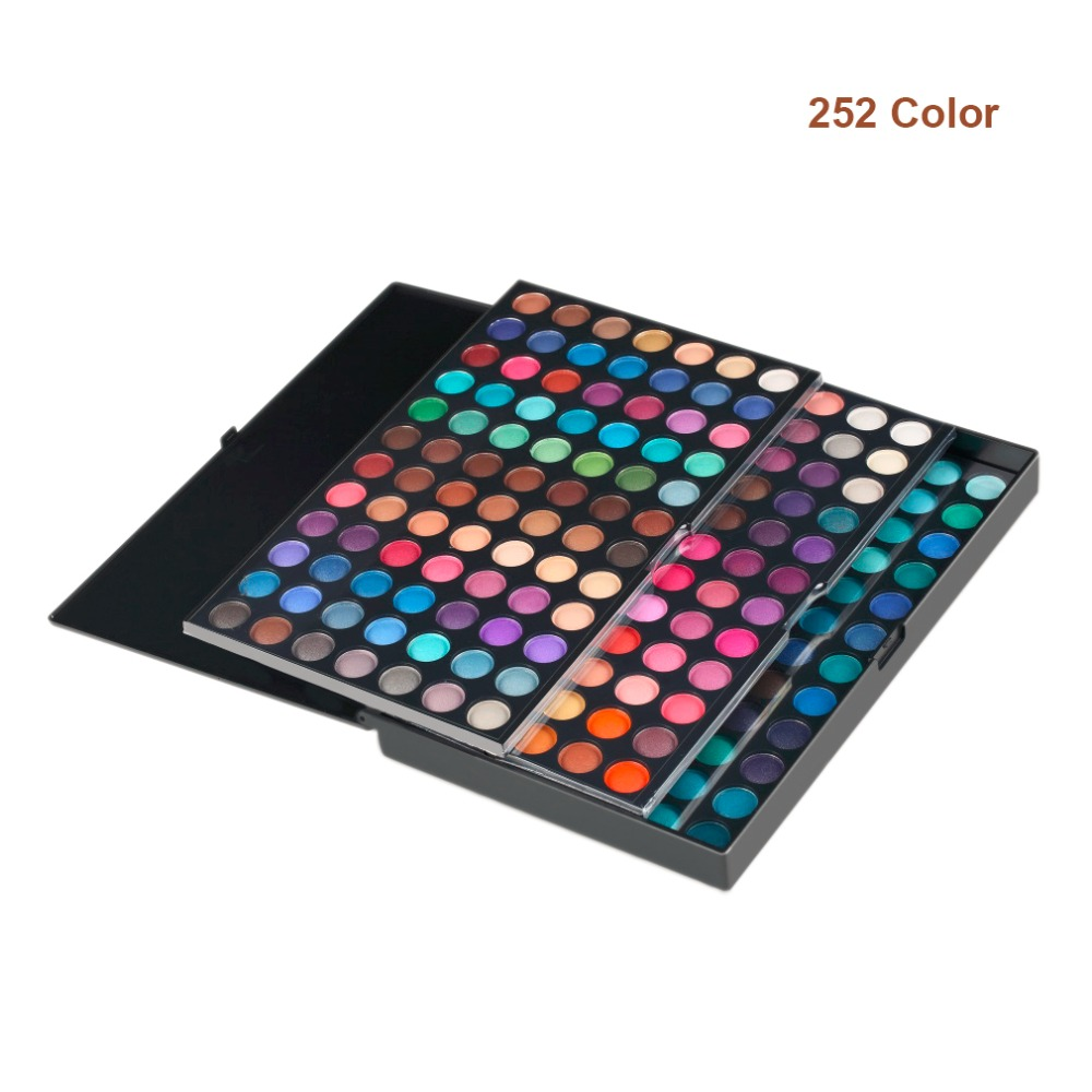 252 Colors Full Professional Eye Shadow Palette 3 Layers Makeup Pallete Cosmetics Make Up Tool Shimmer Matte Eyeshadow Palette санки khw grazy bob синий 28002 28000