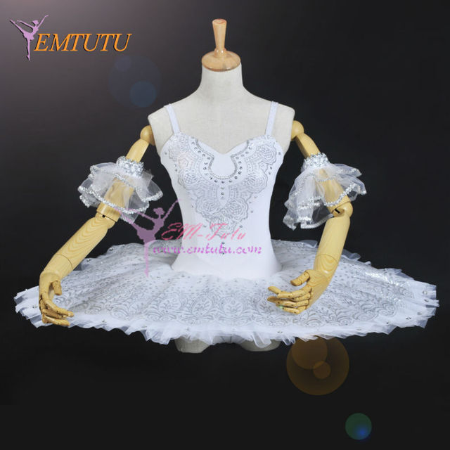 335a9c19c Women Professional Ballet Tutus White Silver Winter Snow Fairy ...
