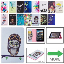 Case For Amazon Kindle Fire 7 Case 2015 2017 5th 7th Generation Cover Fashion Pattern PU Leather Silicone Funda Stand Capa 2017 new kindle fire 7 inch pu leather tablet case cover slim colorful print funda for amazon fire 7 fire7 2015 smart stand skin