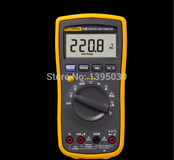 1PC New F17B 17B 15B Frequency Temp Digital Multimeter Meter Tester AC/DC/Diode/R/F/Temp/Cap F-17B цена