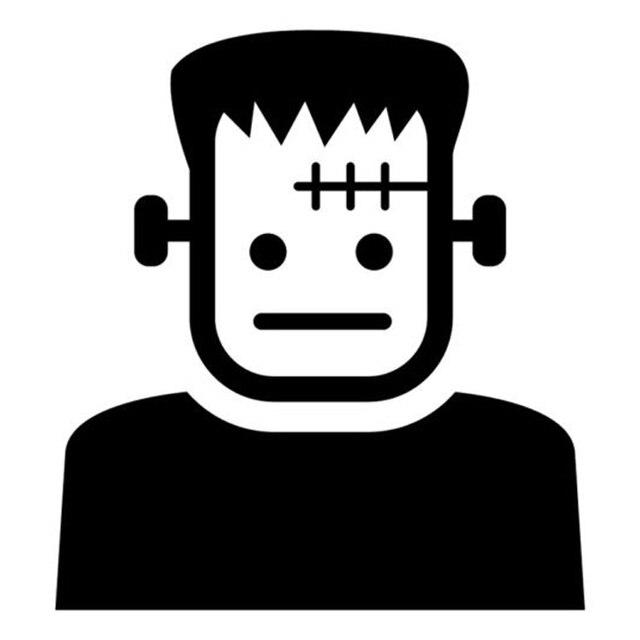 164cm179cm Frankenstein Cartoon Fashion Car Styling Sticker Vinyl Decal Black
