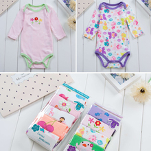 5pcs/lot Newborn Baby Bodysuit 2018 New Fashion Boys Girls Clothes 100% Cotton Long Sleeve Infant Jumpsuit