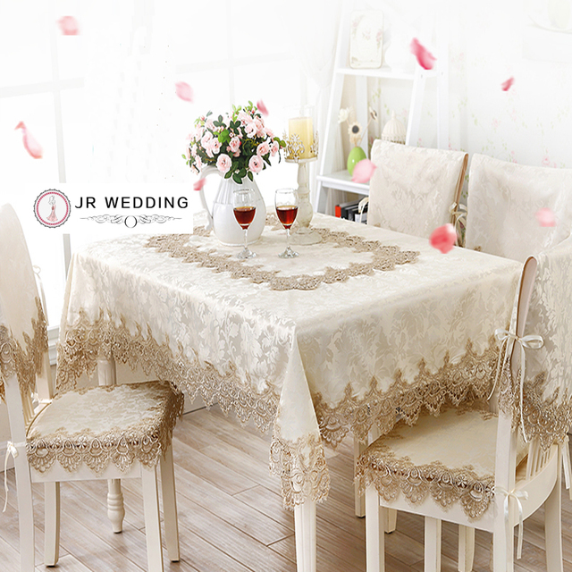 Jacquard Fabric With Lace Table/Cabinet/Bedstand /Refrigeratory /Washing  Machine /Table