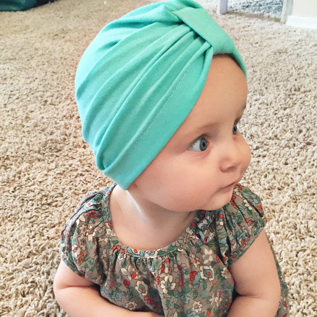 Newborn Cotton Knot Hat Baby Infant Bow knot Beanie Solid Candy colors  Bebes Head Turban Toddlers Head Hood Headwrap Kids Cap c5b6af06e11f