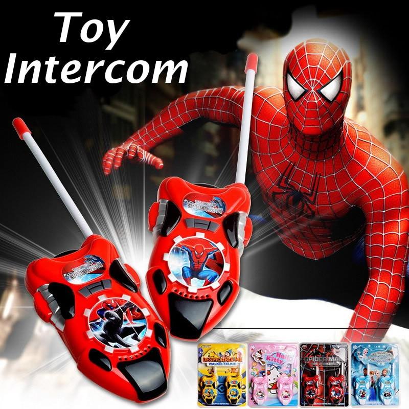 Spiderman Toys For Kids : Pcs plastic children toys walkie talkies spiderman